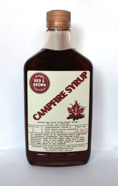 Campfire syrup smoked maple syrup from upstate NY.