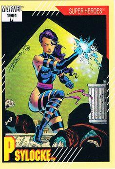 Marvel Comics' Heroines!, Marvel Series 2 Trading Cards #18 Psylocke, 1991.