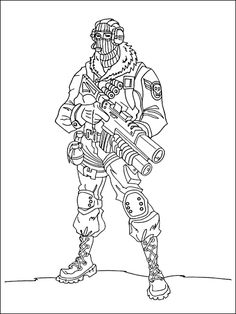 Fortnite Coloring 4 Hunter Coloring Pages Coloring Sheets