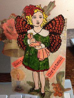 ATC card using Melissa Frances stamp