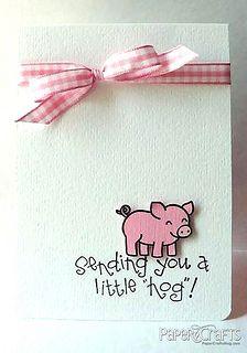 A Little Hog Card by Lisa Addesa