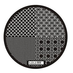 QINF Nail Art Stamp Stamping Image Template Plate hehe Series NO.5 * Continue to the product at the image link.