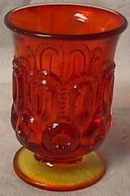 Moon and Star Amberina Urn Viking Glass, Antique Glassware, Touch Of Gold, Vintage Dishes, Burmese, Carnival Glass, Amber Glass, Glass Collection, Star Patterns