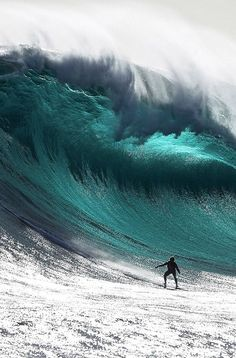 Wave Surfing Awesome wave and awesome ride. Surf's up!Awesome wave and awesome ride. Surf's up! Water Waves, Sea Waves, Surfs Up, Sea And Ocean, Ocean Beach, Wind Surf, Big Wave Surfing, Surf Wave, Surf Style