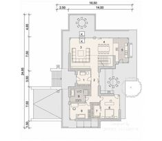 House with attic in modern style with usable area House with a large garage. Minimum size of a plot needed for building a house is m. House Plans Mansion, Cottage Style House Plans, My House Plans, Ceramic Roof Tiles, Balcony Doors, Interior Walls, Modern House Design, Ground Floor, Home Projects