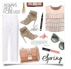 """""""Spring day to night!"""" by anchilly23 ❤ liked on Polyvore featuring Alexis, MaxMara, Valentino, Gianvito Rossi, Prada, Hourglass Cosmetics, NARS Cosmetics, Elizabeth Arden and Yves Saint Laurent"""