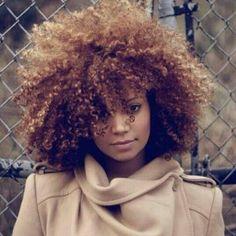 Natural African American hair - curly hair