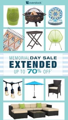 Limited Time Only! Overstock's Biggest Ever Memorial Day Sale has been EXTENDED. Save up to 70% off on home essentials. Hurry! Sale ends Monday, June 5th.