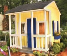 Wooden Playhouse Plans 8' X 8' - Diy - PDF Instant Download