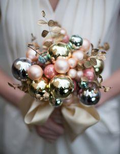 Unique Christmas glass bulb bouquet-