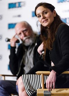 Scott Wilson and Sarah Wayne Callies at the Fan Expo Vancouver, 2015