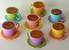 "This shouts out to me ""Mad Hatter Tea Party"".  Once Upon A Pedestal: Teacups from Ice Cream Cones"