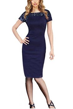 Vililye 1052 Women's Short Sleeve Elegant Business Office Lady Pencil Dress (Small, Blue) Vililye® http://www.amazon.co.uk/dp/B00O1XBHFO/ref=cm_sw_r_pi_dp_9hxlvb09CT8X4