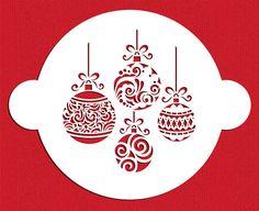 Christmas Balls Cake Stencil Top