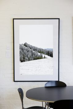 Must Have// One Fine Print Still Print  #rockymountains #snow #home #decor #interiors #rockmywalls