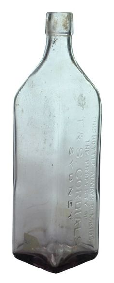 T. & S. Cordials, Sydney. Cork Stoppered Cordial Bottle. Late 1920s.