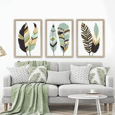 Feather wall art, tribal feather art, boho feather home decor, feather li. Living Room Quotes, Artwork For Living Room, Kids Artwork, Living Room Decor, Living Rooms, Canvas For Living Room, Artwork Wall, Bedroom Decor, Feather Wall Art
