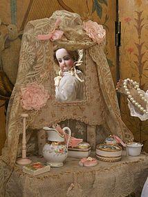 Outstanding Antique French Poupee´s Toilette Table (item #1280418)  #dollshopsunited