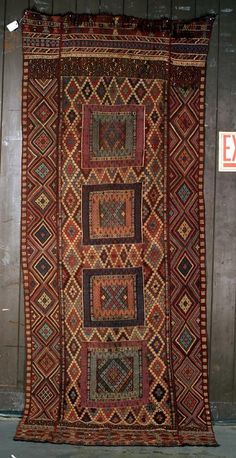 mid 19th century Verneh. It was woven in Turkey about 1860 and is in very good condition. The size is about 5x11 and the color are second to none. . Exhibitor: Ron Hort, R.Franklin Hort Oriental Rug Co.