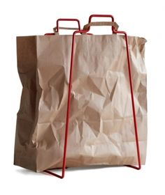 simple: Paperbag Holder by Helena Mattila for everyday design (via NOTCOT)