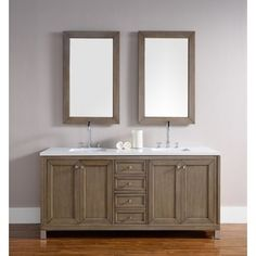Shop for Chicago 72-Inch White Washed Walnut Double Bathroom Vanity. Get free delivery at Overstock.com - Your Online Furniture Outlet Store! Get 5% in rewards with Club O!