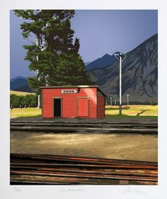 Check out Cass Railway by Alec Tayler at New Zealand Fine Prints