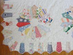 Sweet and Nostalgic WavyScalloped Edge Baby Quilt