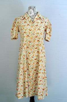 1930s house dress by 86CharlotteStreet on Etsy, $98.00