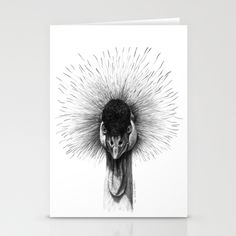 Black Crowned Crane G2012-065 Stationery Cards by S-Schukina - $12.00