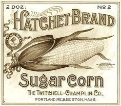 sweet corn label