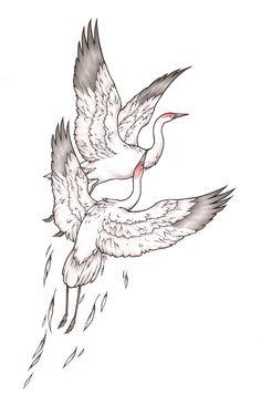 Crane Tattoo Designs | eyecatchingtattoos.com