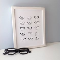 Famous Glasses Print - this would be cute in a walk in closet