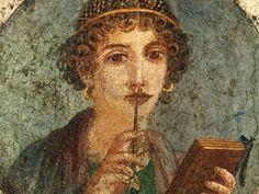 Medaglione con busto ritratto detta poetessa Saffo di - Descrizione dell'opera e mostre in corso - Arte.it
