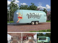 Airstream re-build. Used now as a mobile food trailer! Built in Germany by Airstream4U.com