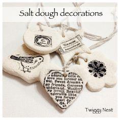 Salt Dough Decorations-- pretty