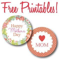 Mothers Day circle labels FREE printables by www.itsybelle.com