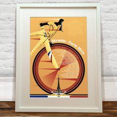 Grand Depart Utrecht Tour De France Art Print  by wyatt9dotcom