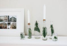 Easy peasy DIY // Minimalistische Weihnachtsdekoration aus Glasflaschen - ztstl