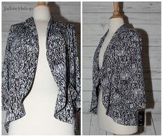 Robert Louis Petite Sz PS Petite Small 3/4 Sleeve Sleek Open Jacket Blazer NWT…
