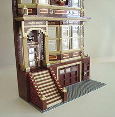 Victorian II Lego Modular, Awesome Lego, Cool Lego Creations, Lego Architecture, Custom Lego, Legos, Victorian, Models, Fun