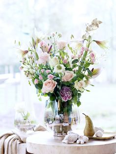 Rosen in Frühlingsstrauß aus Pastelltönen - Tollwasblumenmachen.de