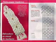 Porta papel higiénico a crochet con gráfico Crochet Stitches Patterns, Crochet Chart, Filet Crochet, Stitch Patterns, Crochet Diagram, Crochet Toilet Roll Cover, Crochet Towel, Crochet Doilies, Crochet Necklace Pattern