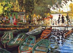 Claude Oscar Monet:Bathing at la Grenouilliere 1869