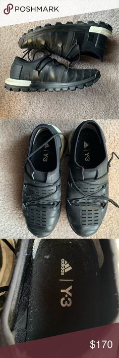96dd644a73730 Y-3 Adidas With Boost in Black Size 7 Here are used y-3