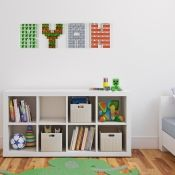 Boy's Minecraft themed wooden wall letters