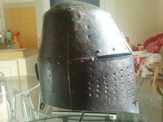 Ethnographic Arms & Armour - Great Helm late 14th century ?
