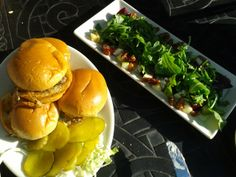 Slider Appetizer w/Beet and Goat Cheese Salad, #delicious. Cheesecake Factory, Lake Grove, NY