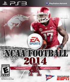 Brandon Mitchell - Arkansas Razorbacks Football Video Games d33b1b833