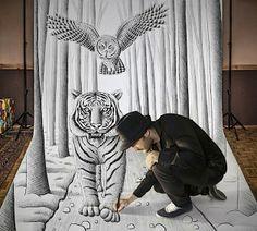Ben Heine - Die Verschmelzung von Mensch und Zeichnung