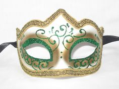Venetian Masquerade Masks, Venice, Green, Jewelry, Jewlery, Jewerly, Venetian Masks, Venice Italy, Schmuck